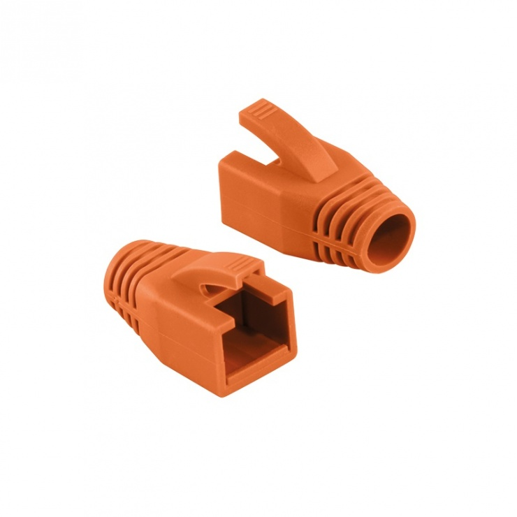 Imagine Manson cablu retea diametru max 8mm portocaliu, Logilink MP0035O