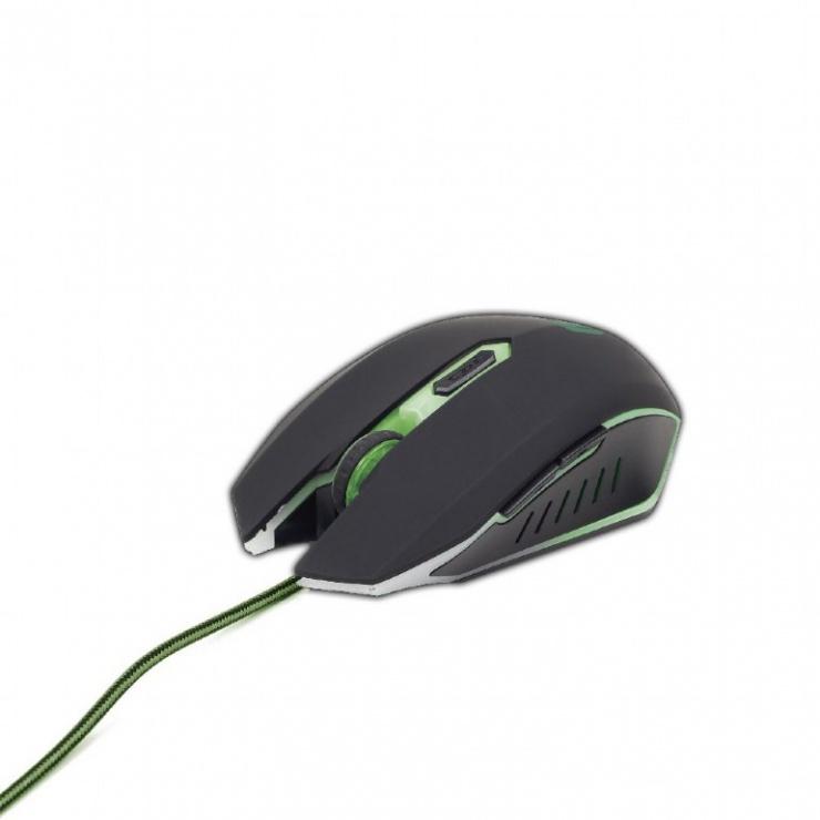 Imagine Mouse gaming Green, Gembird MUSG-001-G-1