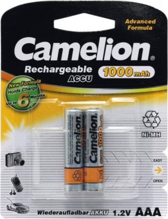 Imagine Blister 2 buc acumulatori AAA Ni-MH 1000mAh, Camelion