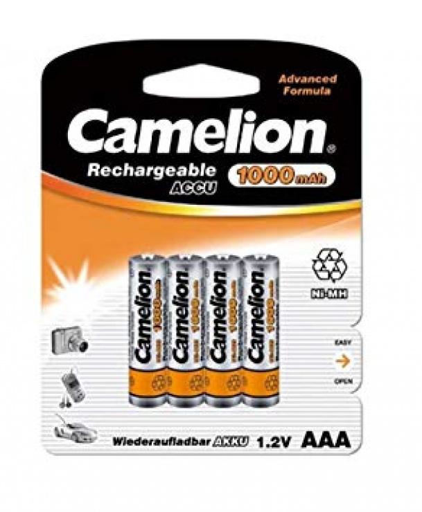 Imagine Blister 4 buc acumulatori AAA Ni-MH 1000mAh, Camelion