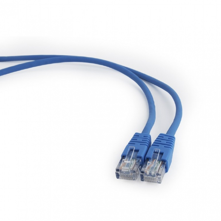 Imagine Cablu retea UTP Cat.5e 0.5m albastru, Gembird PP12-0.5M/B