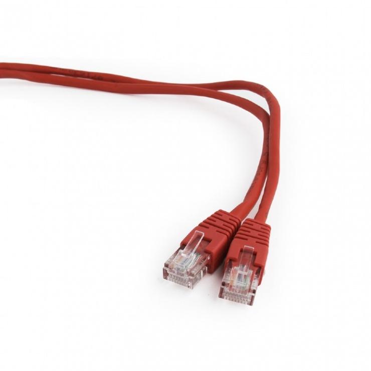Imagine Cablu retea UTP Cat.5e 1m rosu, Gembird PP12-1M/R