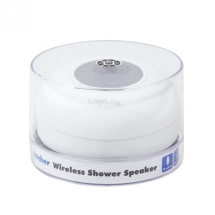 Imagine Boxa portabila Wireless Alb, Logilink SP0052W-5