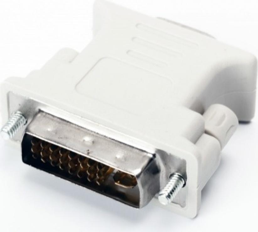 Imagine Adaptor DVI-I Dual Link 24+5 pini la VGA T-M, Spacer SPA-DVI-VGA