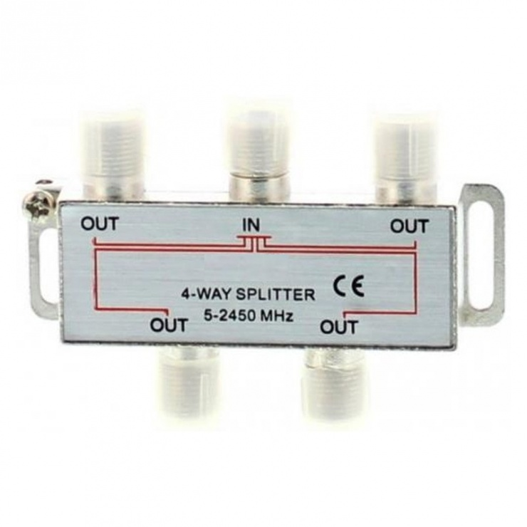 Imagine Splitter CATV coaxial (antena tv) 4 porturi 1000 MHz, SPLT-FC/4-WL