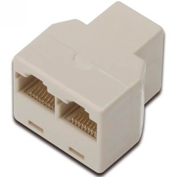 Imagine Spliter/multiplicator retea RJ45 8P8C la 2 x porturi RJ45 M-M