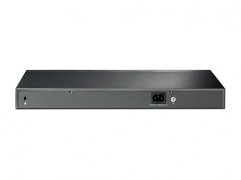 Imagine Switch Smart PoE+ 24 Porturi 10/100M + 4 Porturi Gigabit, 2 sloturi SFP, TP-LINK TL-SL2428P