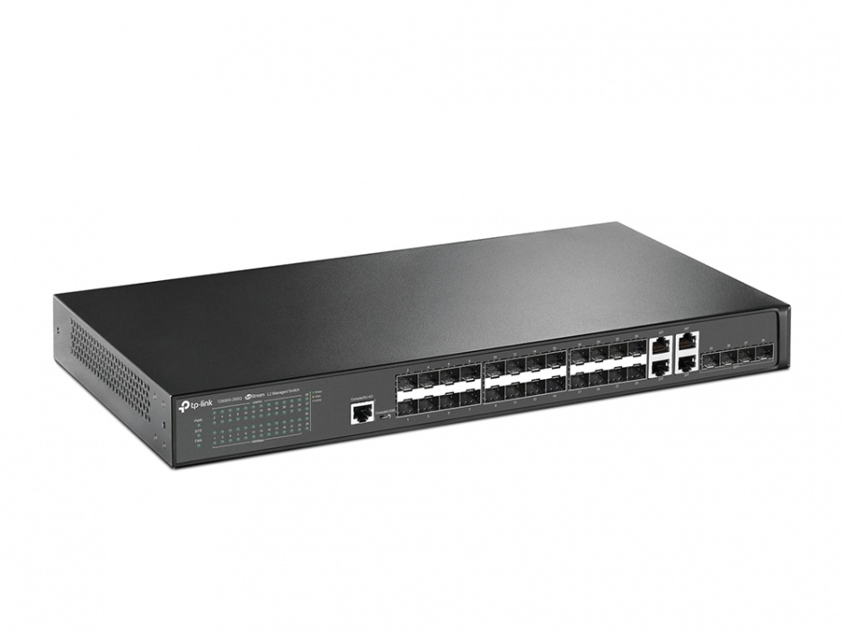 Imagine Switch JetStream 28 porturi Gigabit SFP L2 Managed, TP-LINK T2600G-28SQ
