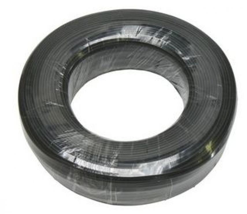 Imagine Cablu rola telefon 4 fire flat, 100m, Negru, TK4-1B