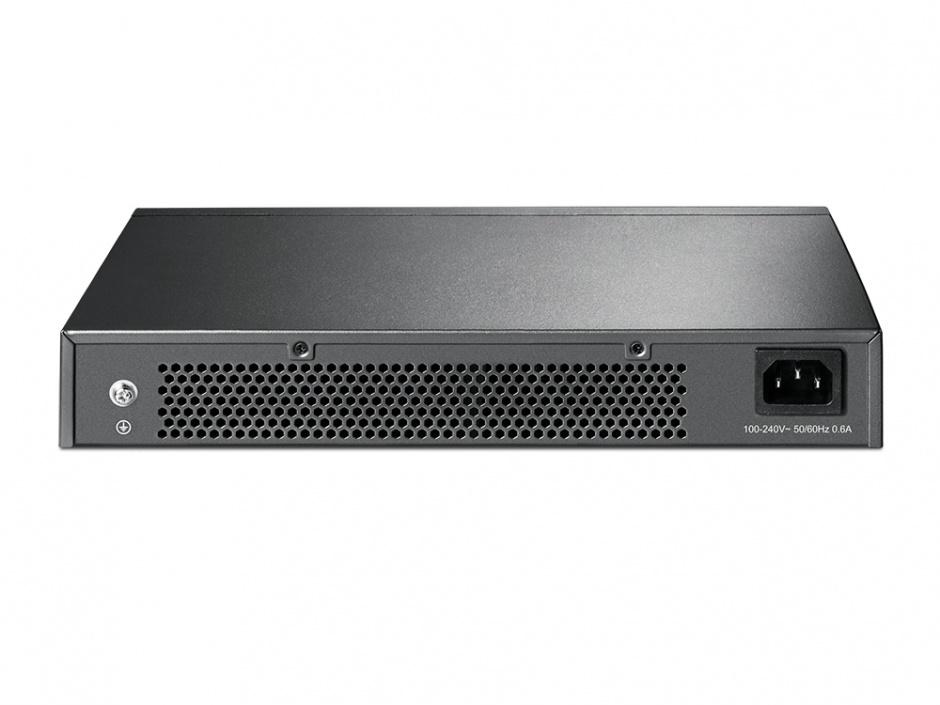 Imagine Switch Easy Smart 24 porturi Gigabit, TP-LINK TL-SG1024DE-1