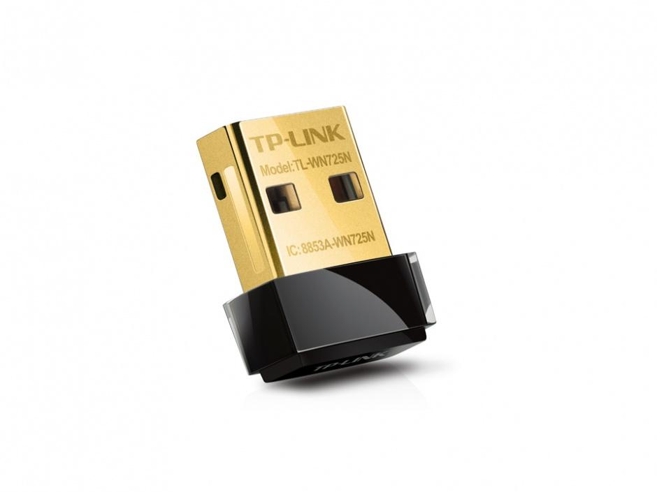 Imagine Adaptor Wireless N USB 150Mbps, nano, TP-Link TL-WN725N