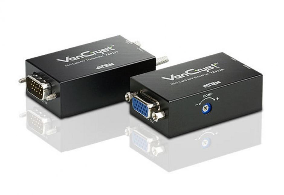 Imagine Mini VGA/Audio Cat 5 Extender max 150m, ATEN VE022