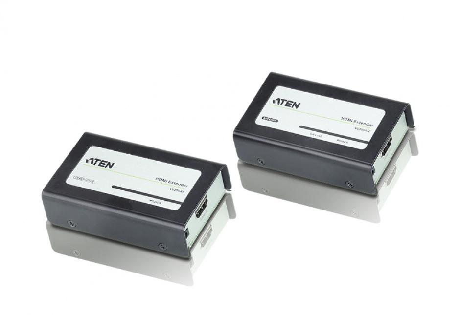Imagine HDMI Extender maxim 60m cu tehnologia EDID, Aten VE800A
