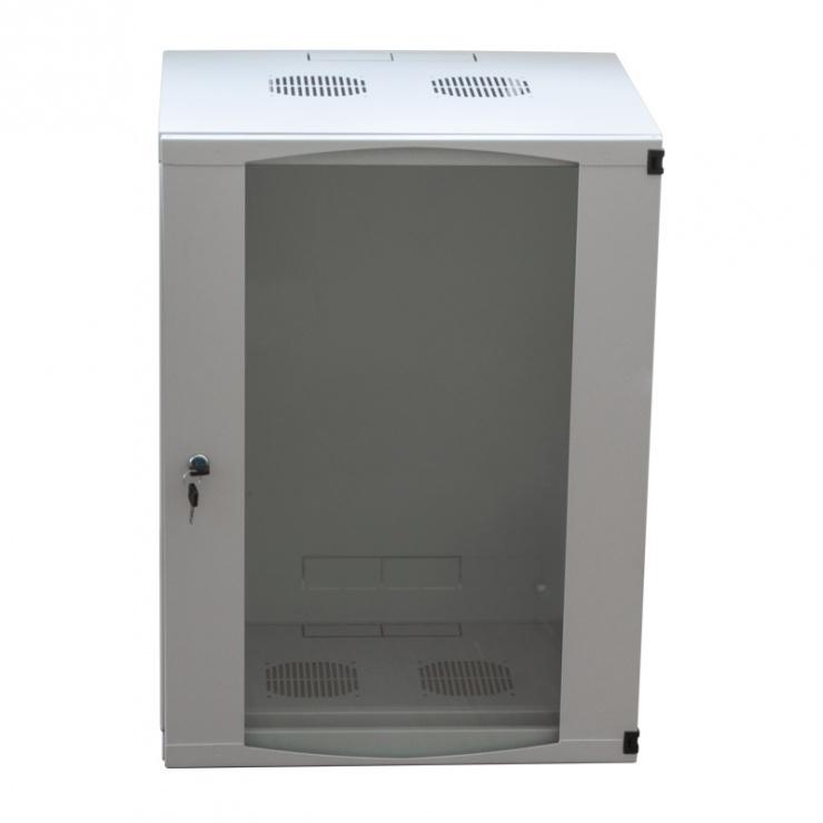 "Imagine Cabinet perete 19"" 9U 540X450mm Gri deschis, Logilink W09F64G"