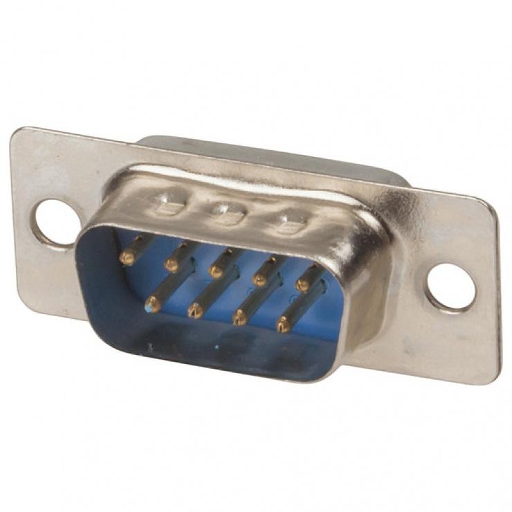 Imagine Conector serial DB9 tata pentru lipit