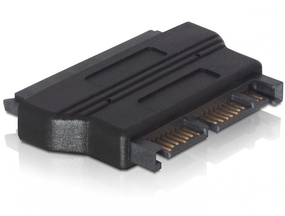 Imagine Adaptor micro SATA 16 pini la SATA 22 pini T-M, Delock 61695-1