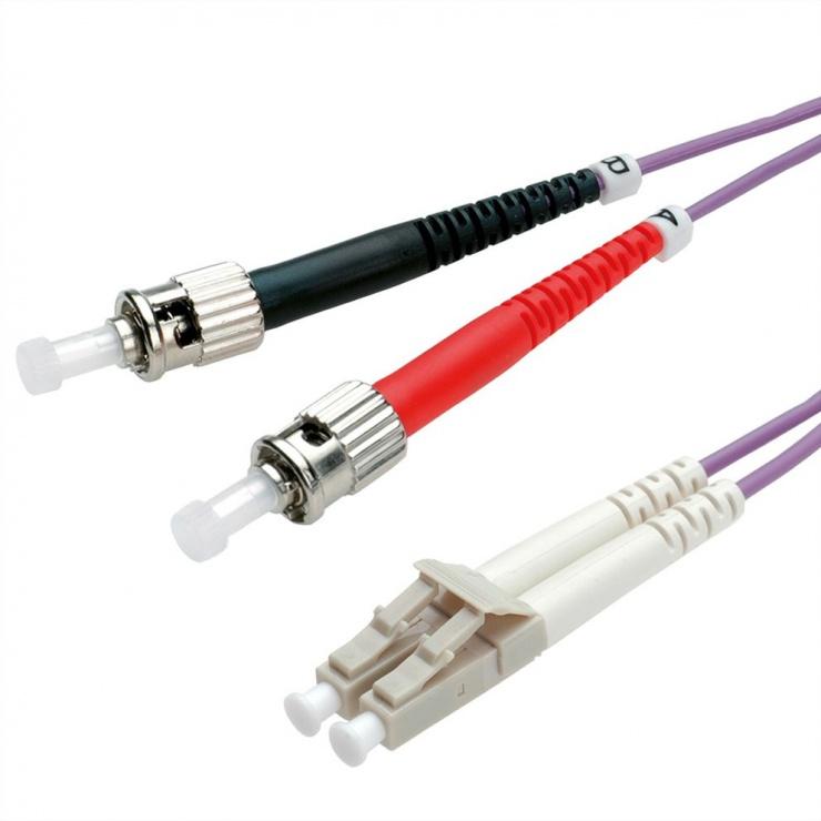 Imagine Cablu fibra optica LC-ST OM4 duplex multimode 10m, Value 21.99.8778