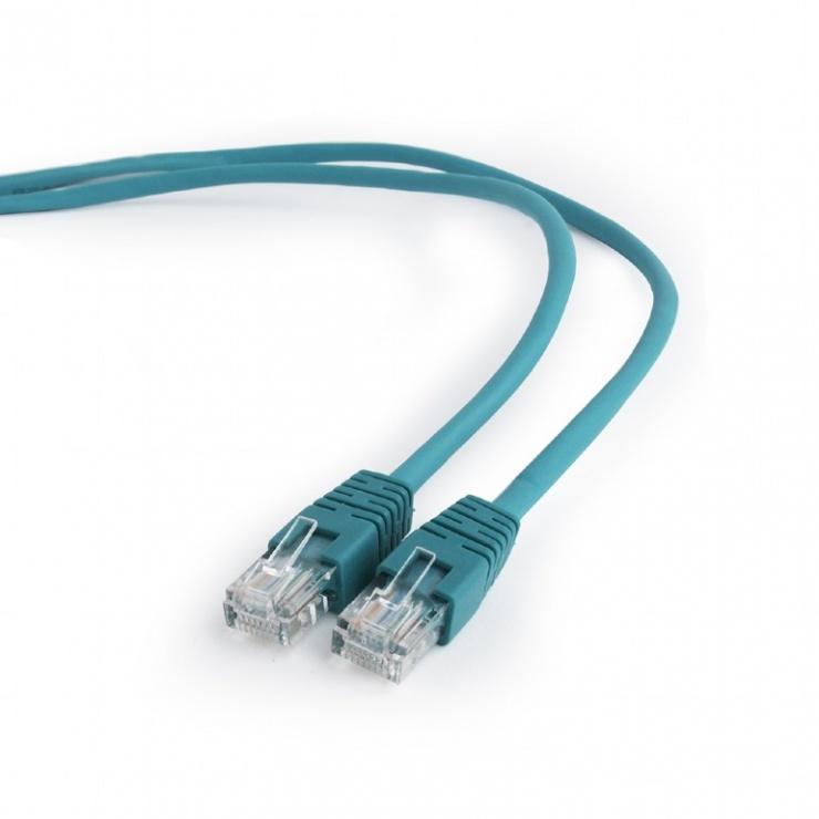 Imagine Cablu retea UTP Cat.5e 0.25m Verde, Gembird PP12-0.25M/G