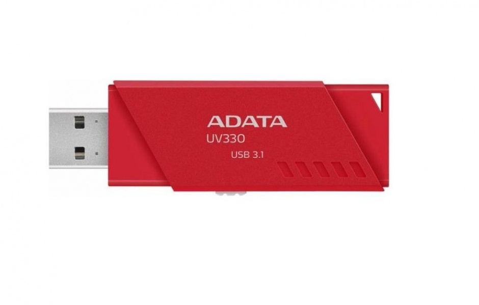Imagine Stick USB 3.0 retractabil UV330 16GB Rosu, ADATA AUV330-16G-RRD