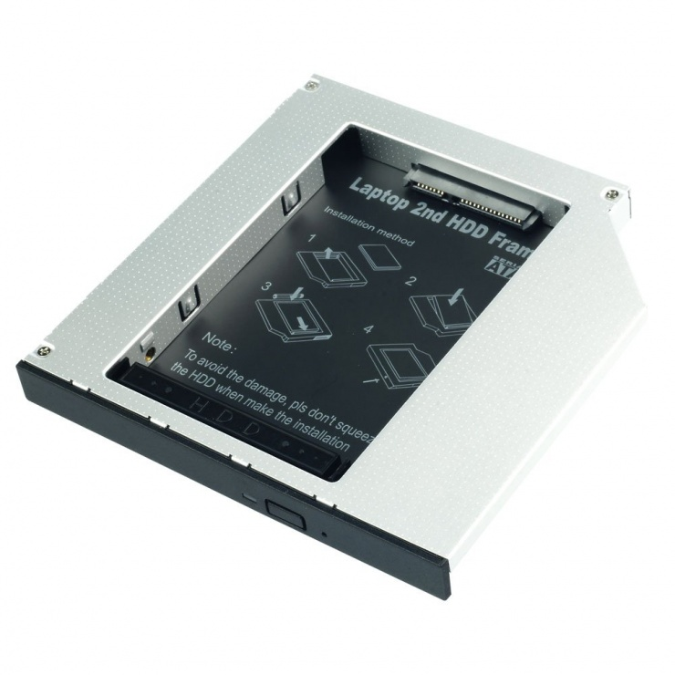 "Imagine Installation Frame (Caddy) Slim SATA 5.25 pentru 2.5"" SATA HDD 12.7mm, Lindy L20963"