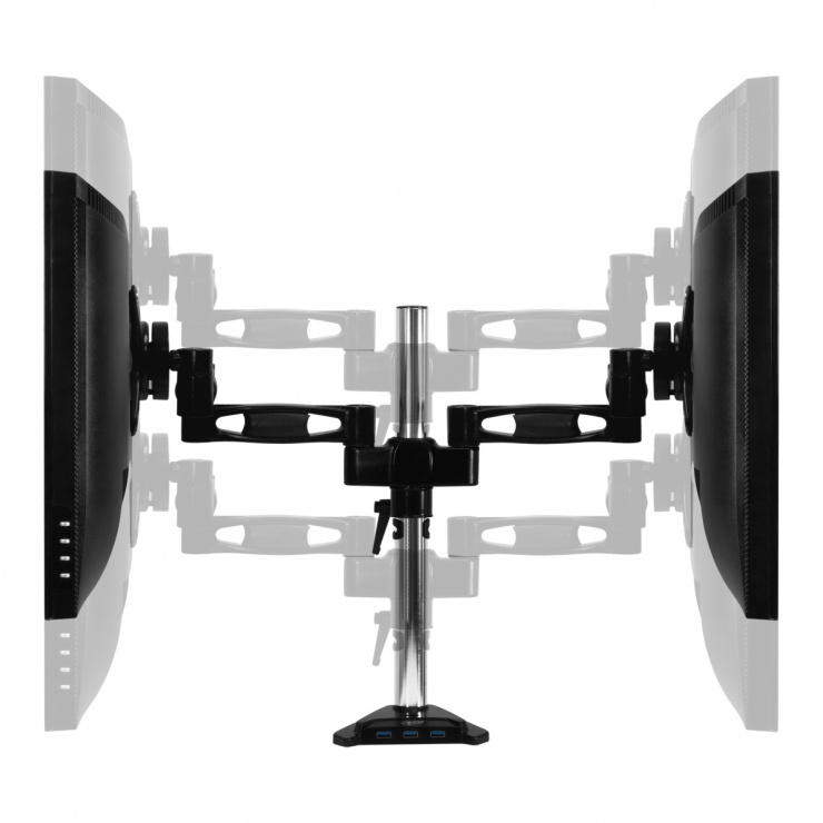 Imagine Suport montare masa pentru 2 monitoare + HUB USB 3.0, Arctic Z2 Pro Gen 3-10