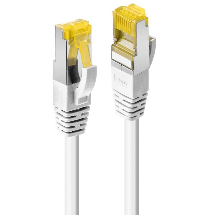 Imagine Cablu de retea S/FTP cat 7 LSOH cu mufe RJ45 Alb 2m, Lindy L47324