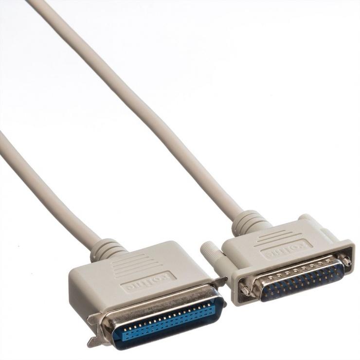 Imagine Cablu imprimanta paralel bidirectional DB25 la Centronics 9m, Roline 11.01.1090