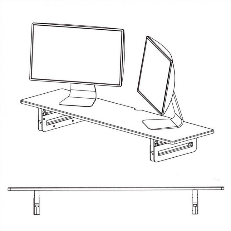 Imagine Stand pentru monitor/laptop extra wide Negru, Value 17.99.1341