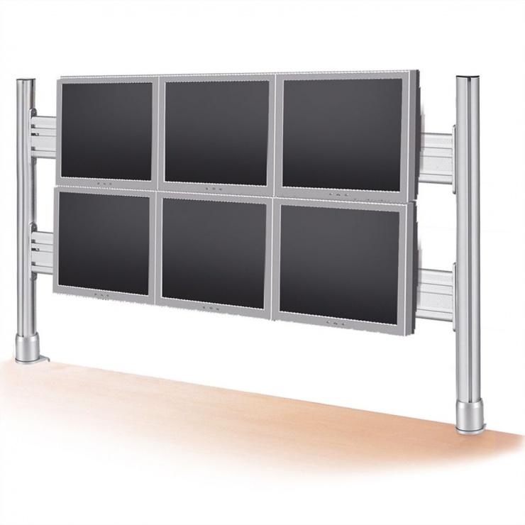 Imagine Suport pentru 2x3 monitoare LCD 56cm, Roline 17.03.1162