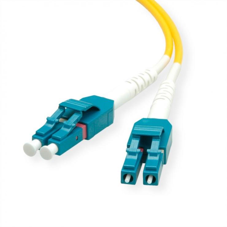 Imagine Cablu Jumper Fibra optica LC-LC duplex OS2 15m, Roline 21.15.8786