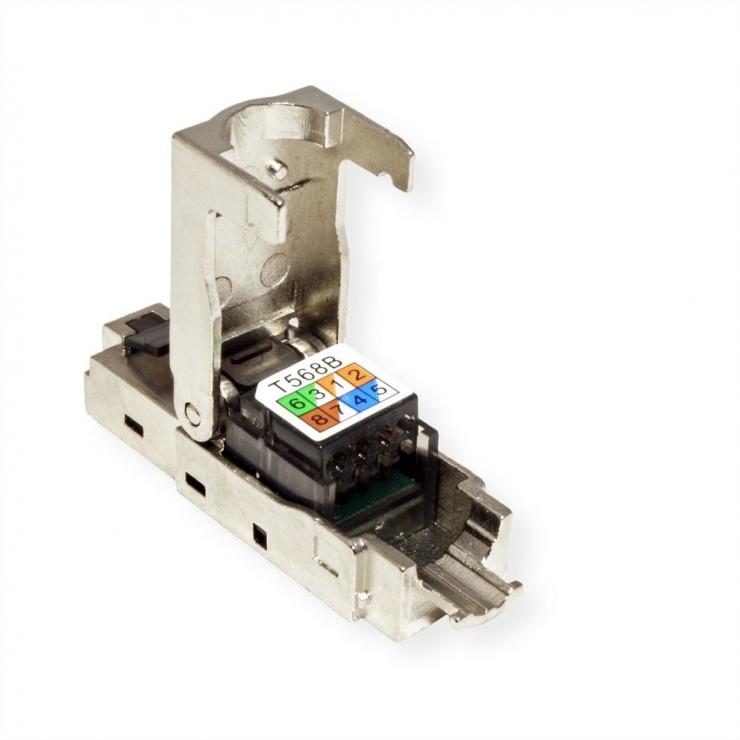 Imagine Conector de retea RJ45 cat 6 STP pentru fir solid AWG 23-26, Value 26.99.0371