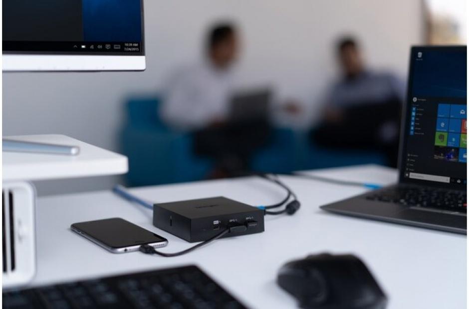 Imagine Docking station SD2000P USB-C la HDMI 4K / Displayport / Gigabit LAN / 2 x USB 3.0-A 110W, Kensingto