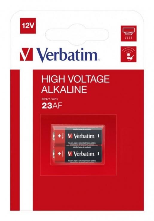 Imagine Set 2 baterii pentru telecomanda auto 12V 23A MN21, Verbatim 49939