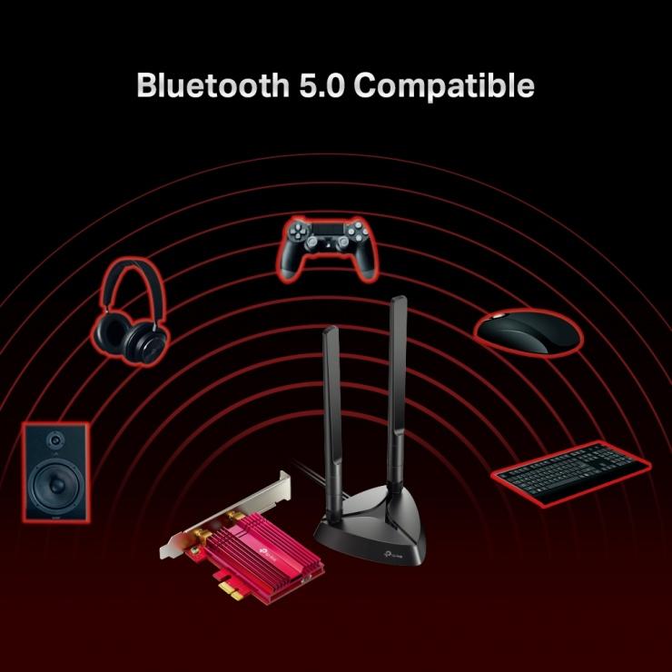 Imagine Adaptor PCI Express Wi-Fi 6 Bluetooth 5.0, TP-LINK Archer TX3000E