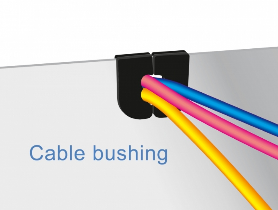 Imagine Set 10 buc protectie cabluri dreptunghiular - diametru 2.3 mm Natural, Delock 60257