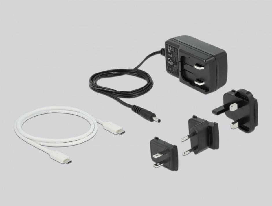 "Imagine Docking Station USB-C 3.2 pentru 2 x 2.5"" SATA HDD / SSD cu functia de Clona, Delock 63084"