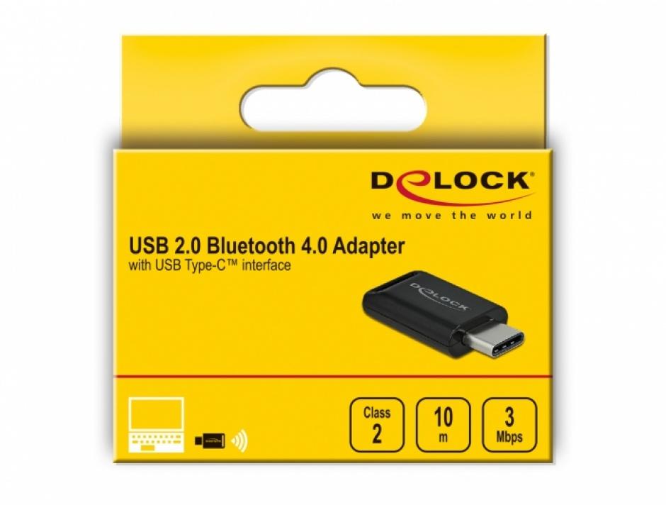 Imagine Adaptor USB 2.0-C Bluetooth 4.0 dual mode + EDR, Delock 61003
