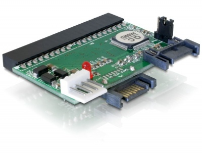 Imagine Convertor IDE 40 pini la 2 x HDD SATA, Delock 61664-1