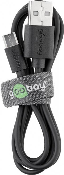 Imagine Incarcator auto 2.1A cu 2 x USB + cablu micro USB, Goobay 71692