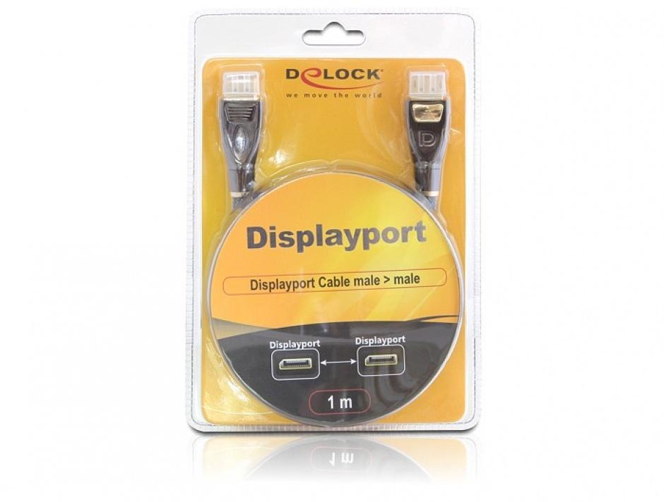 Imagine Cablu DisplayPort v1.2 4K Ultra HD 60Hz Premium T-T 1m, Delock 82770