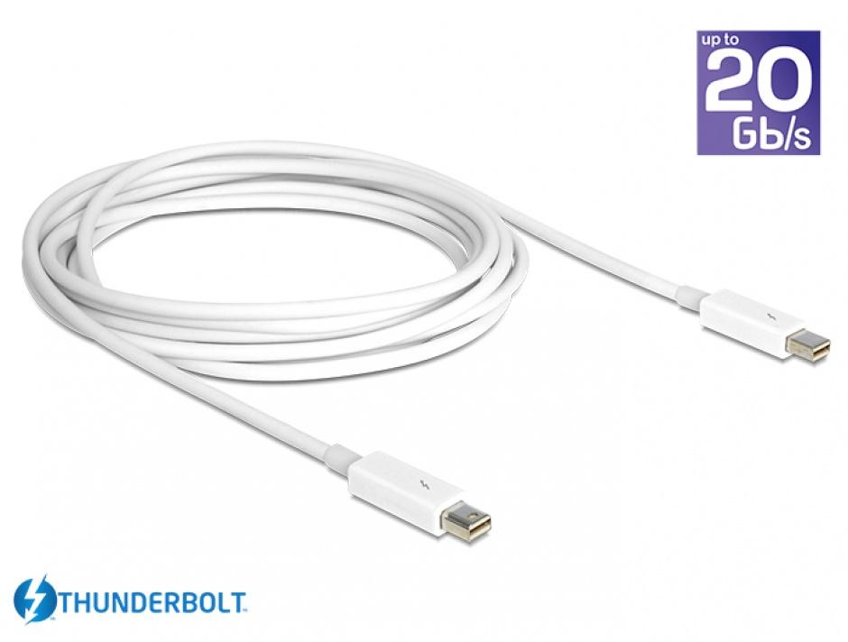 Imagine Cablu Thunderbolt 2 T-T 1m Alb, Delock 83166