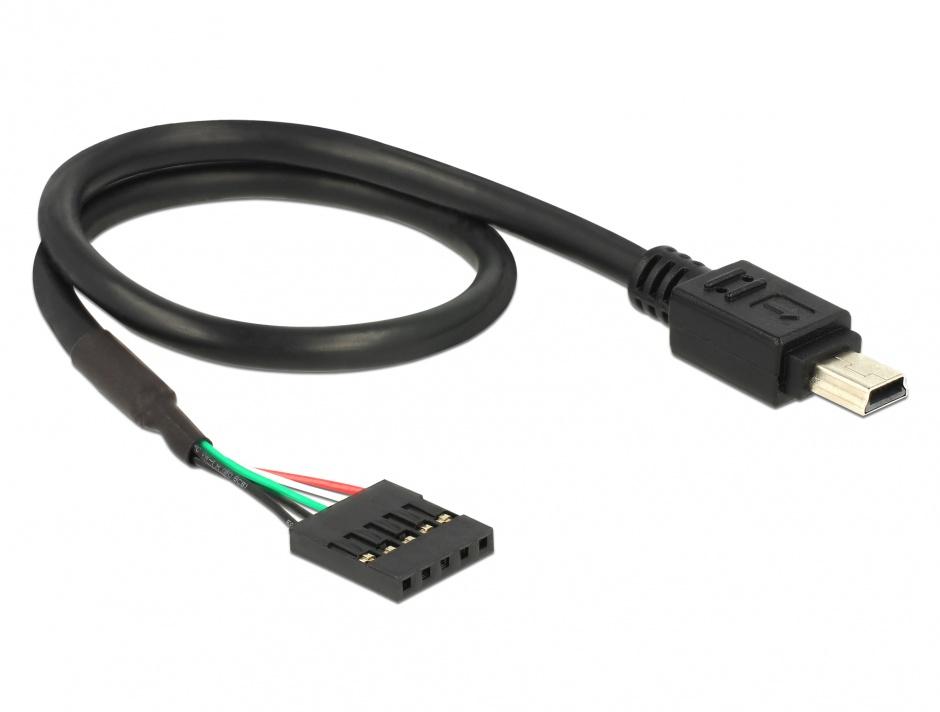 Imagine Cablu USB 2.0 pin header la USB mini M-T 30 cm, Delock 83170