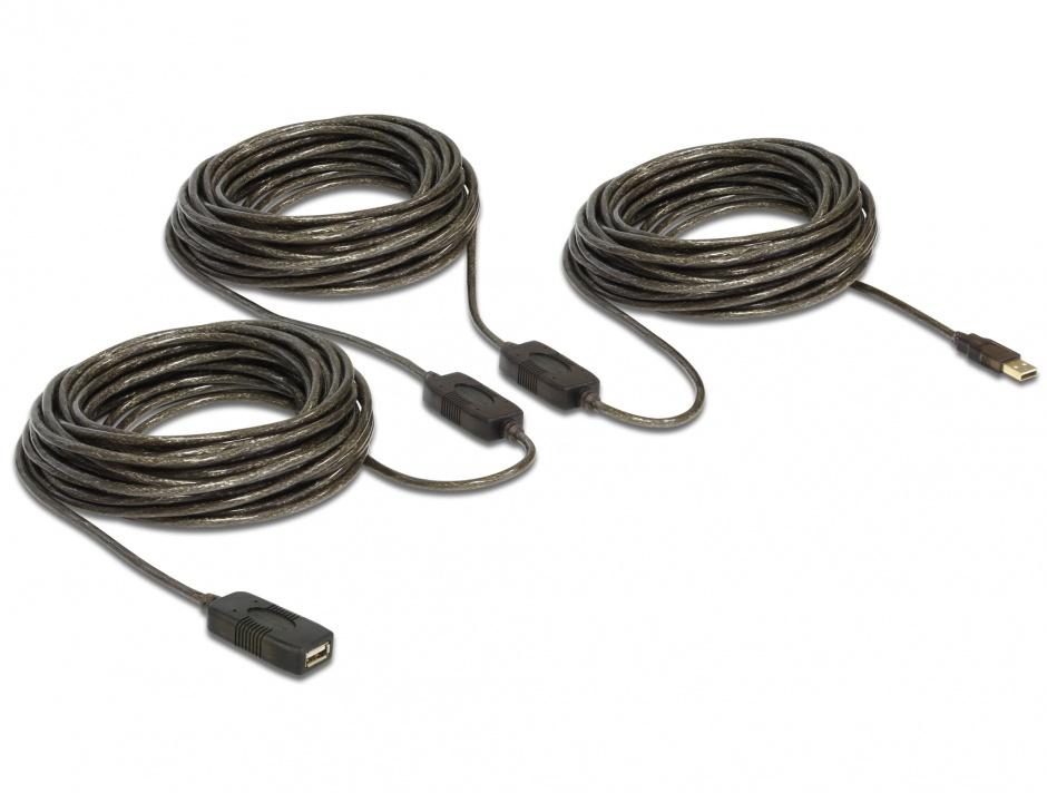 Imagine Cablu prelungitor activ USB 2.0 M-T 30m, Delock 83453