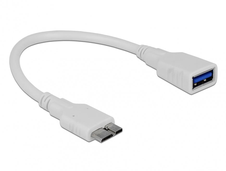 Imagine Cablu Micro USB 3.0 OTG la USB 3.0-A T-M, Delock 83469
