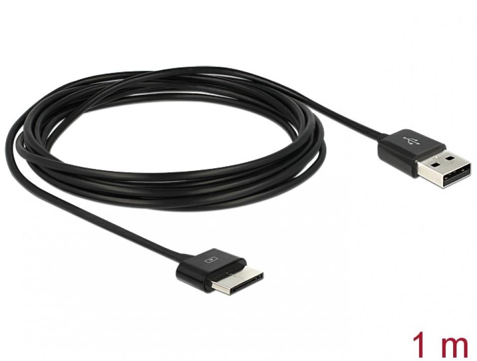 Imagine Cablu USB 2.0 date si alimentare tableta ASUS Eee Pad 36 pini 1m Negru, Delock 83555