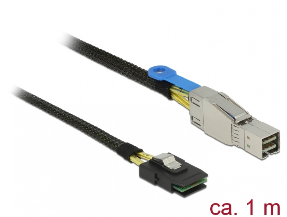 Imagine Cablu Mini SAS HD SFF-8644 la Mini SAS SFF-8087 1m, Delock 83616