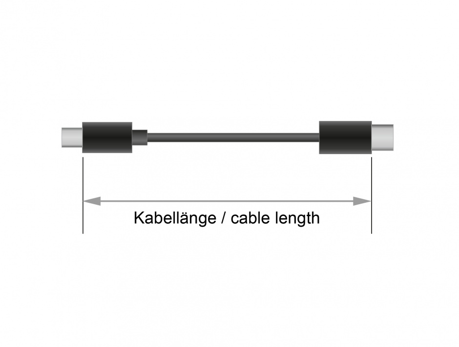 Imagine Cablu USB tip C (device) la USB 2.0-A (host) 4m, Delock 83669