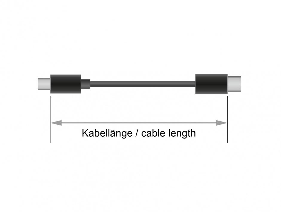 Imagine Cablu USB 2.0 tip C T-T Negru 3m 3A, Delock 83867