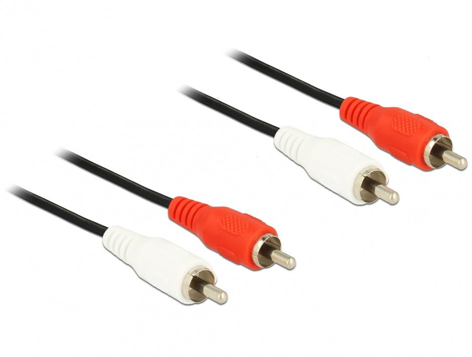 Imagine Cablu audio 2 X RCA - 2 X RCA T-T 1.5M, Delock 84003