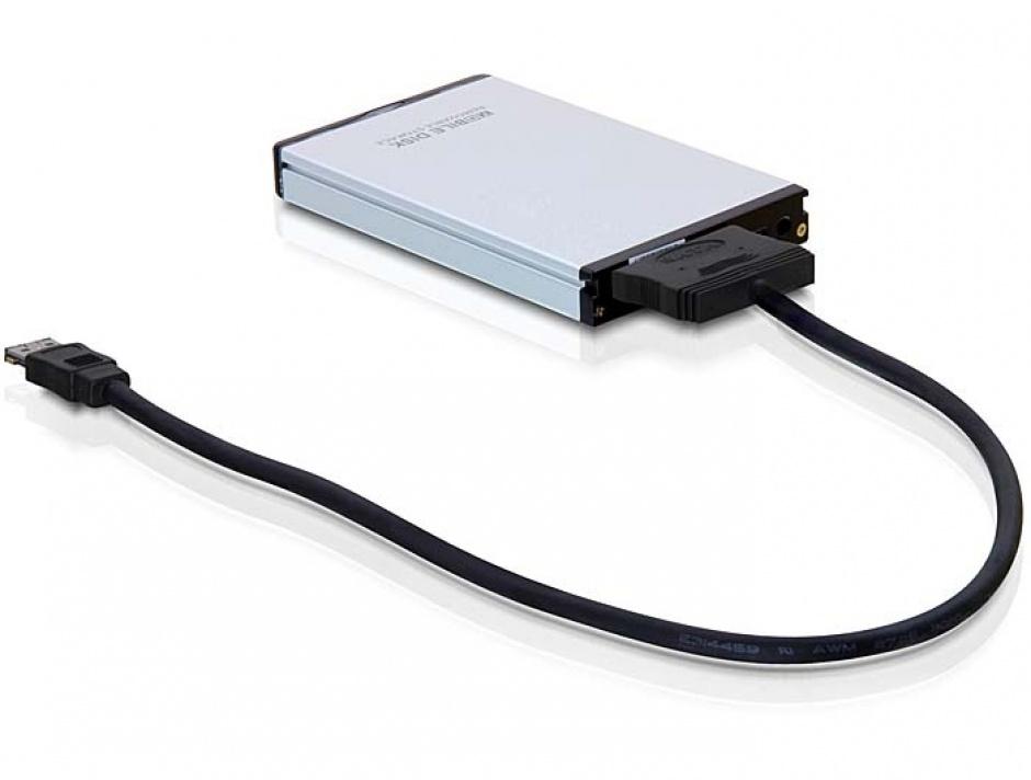 """Imagine Cablu eSATAp 12V la SATA 22 pini HDD 2.5/3.5"""" 1m, Delock 84403"""